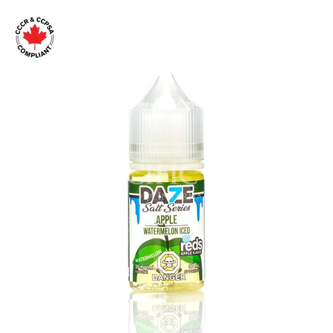 7 Daze - Salt Nic Series Watermelon Iced (30mL) vape shop vape store wii vape gta york toronto ontario canada best price cheap #1  shop number one shop in toronto Herbal Vape dry herb concentrates Shatter Dabs Weed Marijuana weed