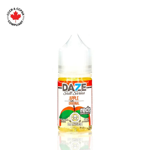 7 Daze - Salt Nic Series Apple (30mL) vape shop vape store wii vape gta york toronto ontario canada best price cheap #1  shop number one shop in toronto Herbal Vape dry herb concentrates Shatter Dabs Weed Marijuana weed