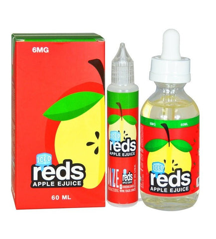 Reds Apple Iced E Juice by Vape 7 Daze is a delicious crisp red apple flavor, but with an added twist of menthol york gta toronto ontario canada vape shop wii vape best price cheap