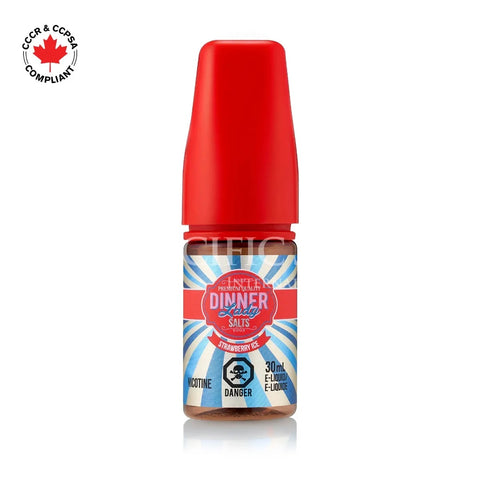 Dinner Lady Salt nic  - Strawberry Ice (30mL) vape shop vape store wii vape gta york toronto ontario canada best price cheap #1  shop number one shop in toronto Herbal Vape dry herb concentrates Shatter Dabs Weed Marijuana weed