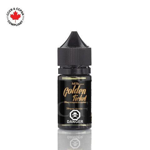 Golden Ticket Salt Nic 30ml vape shop vape store wii vape gta york toronto ontario canada best price cheap #1  shop number one shop in toronto Herbal Vape dry herb concentrates Shatter Dabs Weed Marijuana weed