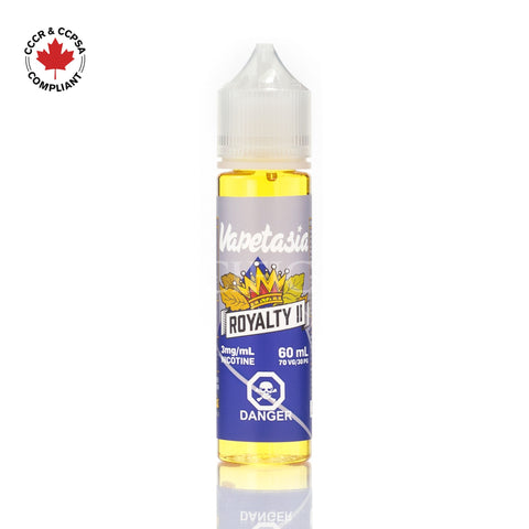 Vapetasia - Royalty II 2 60mL vape shop vape store wii vape gta york toronto ontario canada best price cheap #1  shop number one shop in toronto Herbal Vape dry herb concentrates Shatter Dabs Weed Marijuana weed
