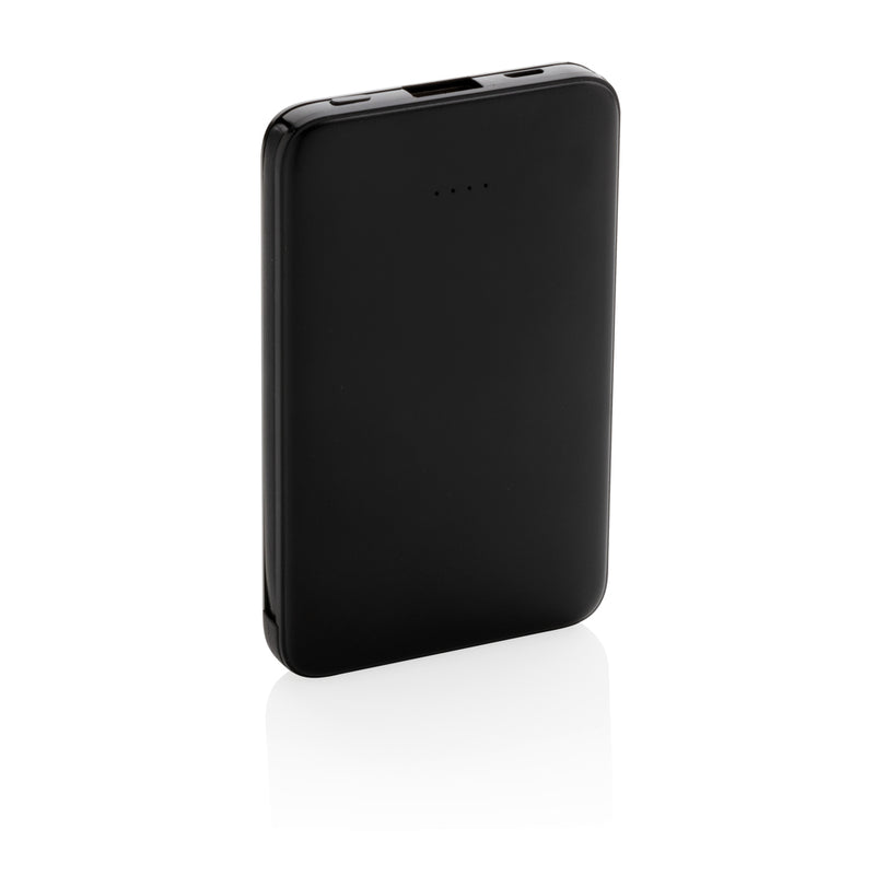 Powerbank tascabile 5.000 mAh con cavi integrati