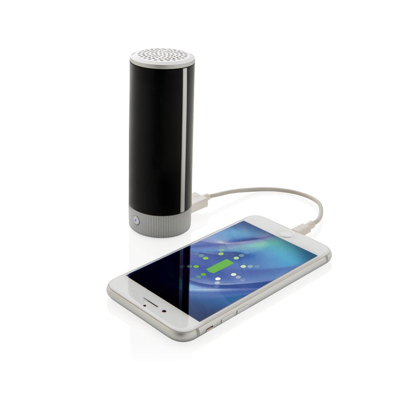 Speaker e powerbank wireless logo retroilluminato