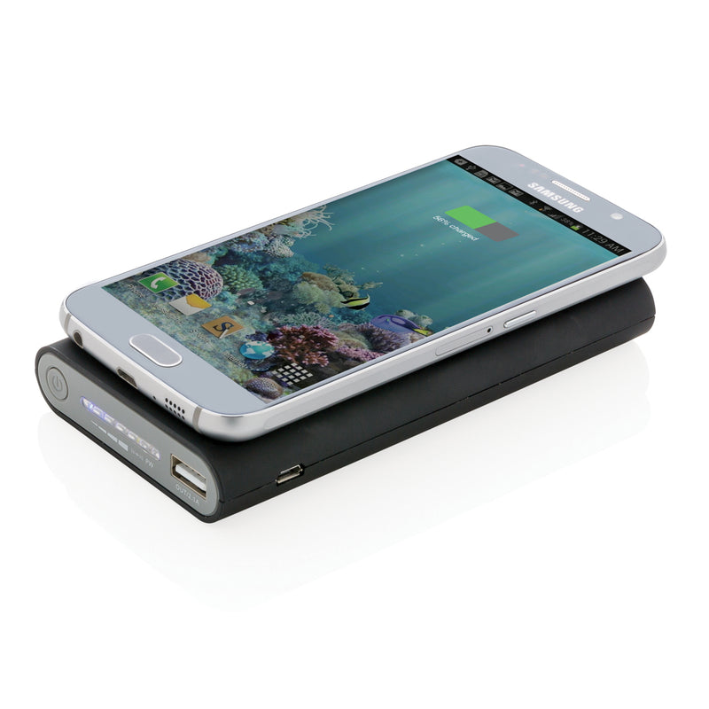 Powerbank wireless 5W da 8000 mAh con uscita type C *