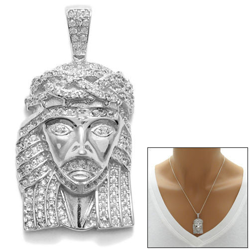 Exquisite sterling silver multi cz jesus christ head pendant exquisite 097 carat multi cz jesus christ head pendant wholesale 925 sterling silver pendant mozeypictures Image collections