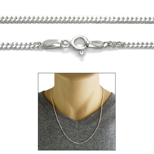 curb heavy s necklace men chain bliss catholic silver sterling necklaces