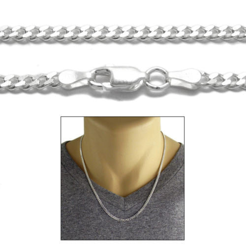 curb necklace inches steel chain stainless style biker men punk for fibo