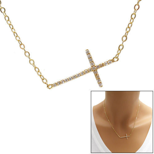 Rose gold plated sterling silver round pendant necklace wholesale 14k gold plated 023 carat micro pave cz cross pendant necklace wholesale 925 sterling aloadofball Gallery