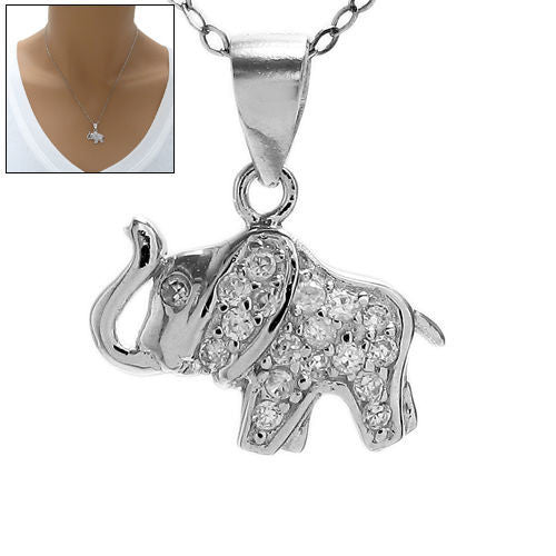 Gorgeous sterling silver elephant pendant embellished w cz gorgeous elephant pendant embellished with czs wholesale 925 sterling silver pendant main aloadofball Image collections