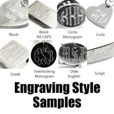 Engravable Jewelry: Pendants and Tags - Tommyway com
