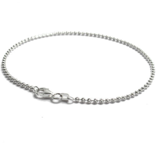 Jewelry & Watches Capable Gold Plated Sterling Silver 925 Laser Cut Beads Beaded Anklet Your Size.