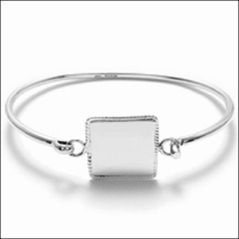 sterling personalised silver ladies bracelet bangles bangle with bracelets triple heart russian can flat be slave