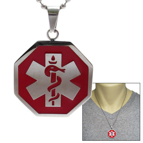 pendant wholesale stainless caduceus medical necklace products main personalized steel engravable jewelry unique