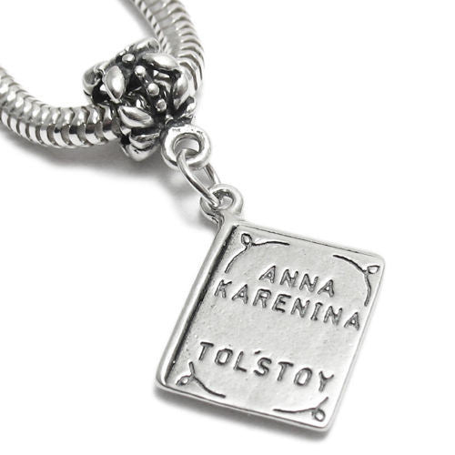 a47ba5bf1 ... netherlands anna karenina by tolstoy book charm with euro bead. sterling  silver df308 57915 ...