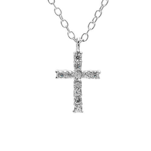 Brilliant Sterling Silver CZ Cross Pendant Necklace. Wholesale ... c24fc09c05b3