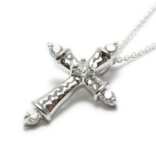 Sterling silver small cute cz cross pendant w necklace wholesale small and cute multi cz cross pendant with necklace options wholesale 925 sterling silver mozeypictures Choice Image
