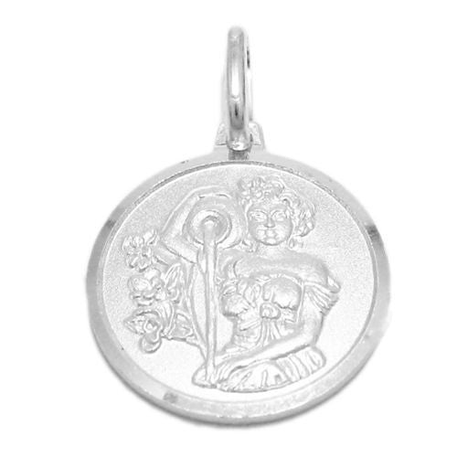 Sterling silver small zodiac sign on medallion pendant charm small zodiac sign on medallion pendant charm aquarius wholesale 925 sterling silver pendant mozeypictures Image collections
