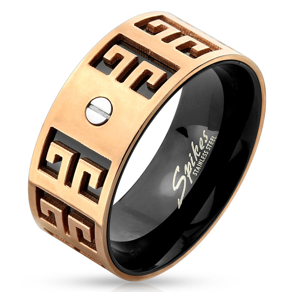 rings greek product men deal ring stainless for pearl super silver new steel from fashion gold key usa couple european