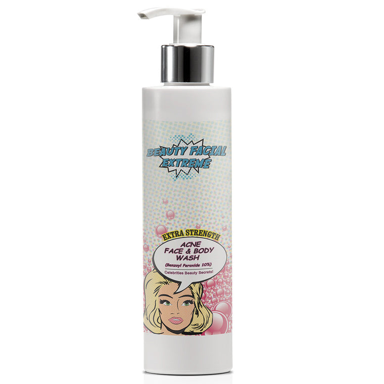 Acne Face & Body Wash: Extra Strength (Benzoyl Peroxide 10%)