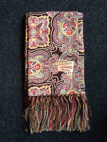 1940's paisley scarf all wool by Berkley