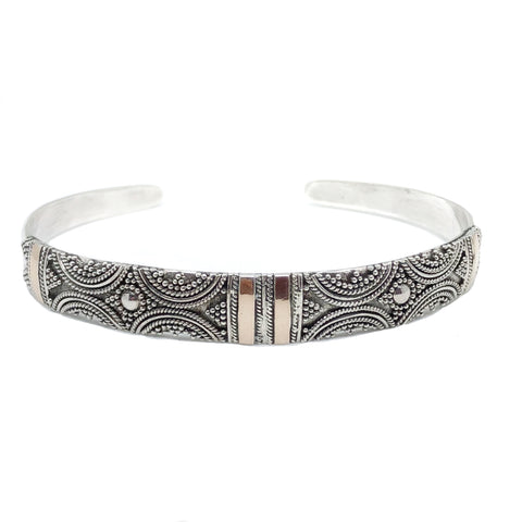 Crescent Two-Toned Cuff Bracelet