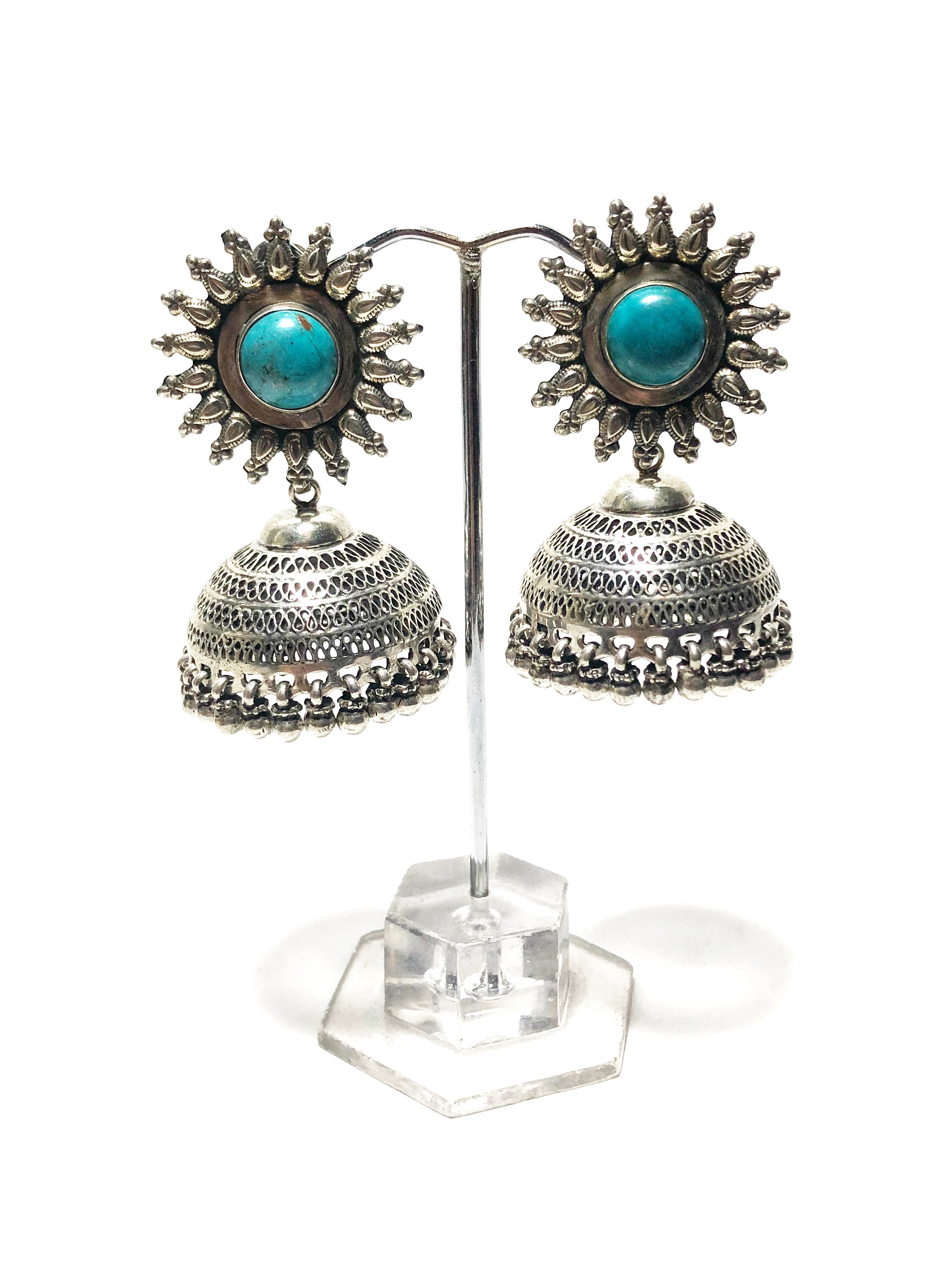 Vintage Turquoise Passage Jhumka Earrings