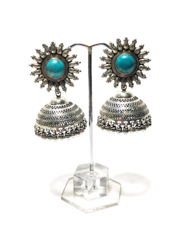 Peacock Jhumka Earrings