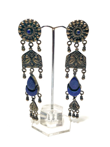 Womb Leaf Jhumka Earrings