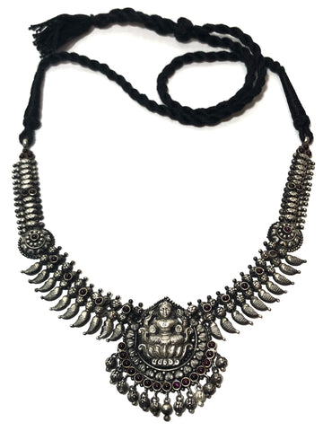 South India Temple Lakshmi Pendant Necklace (Vintage)