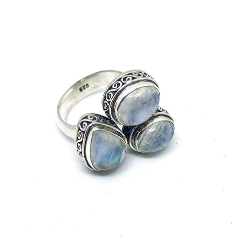 Bali Moon Gem Ring
