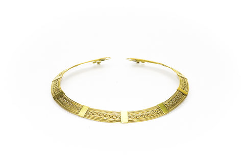 Union Brass Collare Necklace