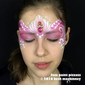 Valentine's Day mask tutorial with bling cluster