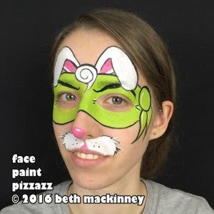 Ninja Easter bunny face painting tutorial