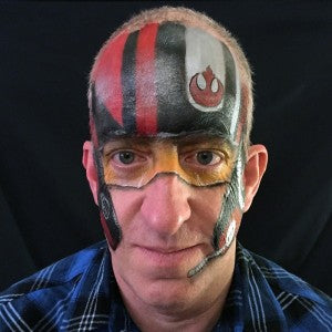 Poe Dameron inspired helmet face painting tutorial