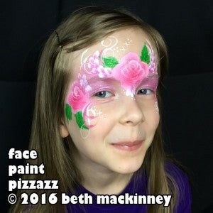 Rose Fairy Mask Face Painting Tutorial