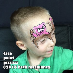 Telling a story with face paint