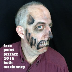 Mehron powders zombie face painting tutorial