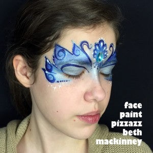Blue Winter Mask Face Painting Tutorial