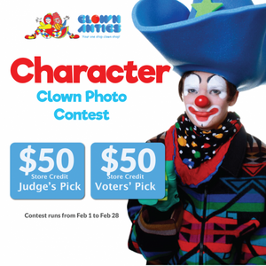 Join our Character Clown Photo Contest! Win $50!