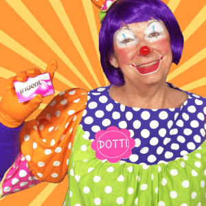 Gum Clown Skit with Dotti T of Call us Clowns