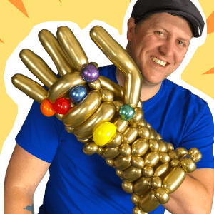 Infinity Gauntlet Balloon Art by Balloon Josh