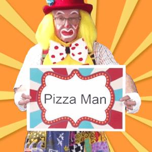 Video: Pizza Man with Silly Dilly and JJ (Clowns on Call)