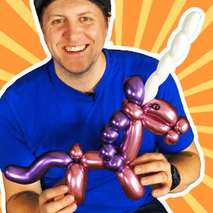 Video: Unicorn Line Work Balloon Art by Balloon Josh