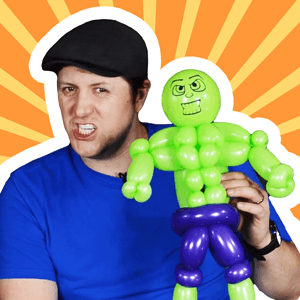 Intermediate Hulk Line Work Balloon by Balloon Josh