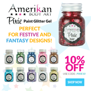 NEW Amerikan Body Art Pixie Paint Glitter Gels for 10% OFF!