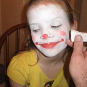 How To Face Paint A Clown Face