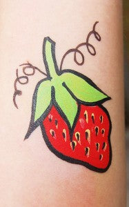 How to Face Paint a Quick and Easy Strawberry