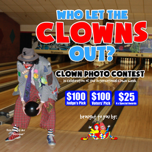 Who Let the Clowns Out? Clown Photo Contest! WIN $100!