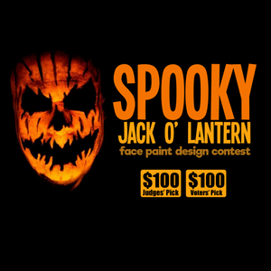 Spooky Jack O' Lantern Face Paint Contest! $100 to Winners!